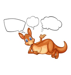 A kangaroo thinking vector image
