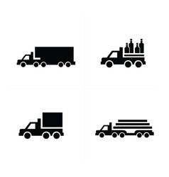 Truck and transport icons vector