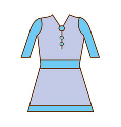 Beautiful short dress casual cloth vector