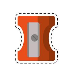 cartoon pencil sharpener school vector image