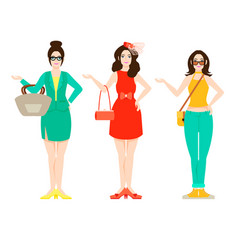 Beautiful woman outfit fashion concept vector