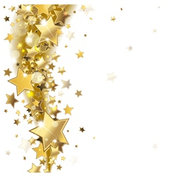 Background with gold stars vector