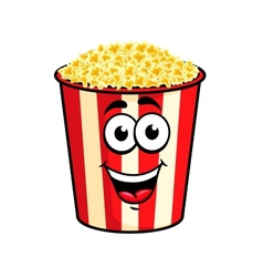 Cartoon popcorn character vector