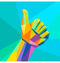 Likehand sign geometrical style vector