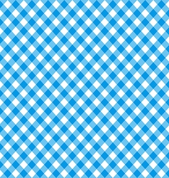 Diagonal blue tablecloth seamless pattern vector