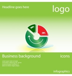 Chart graph business background vector