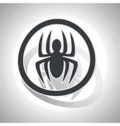 Spider sign sticker curved vector