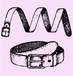 Mans belt fashion accessory vector