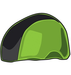 Green helmet vector