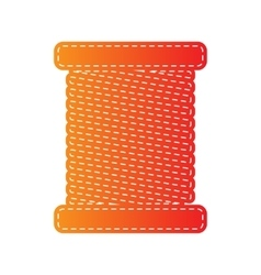 Thread sign  orange applique isolated vector