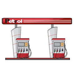 a petrol station vector image