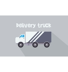 Art of delivery truck vector