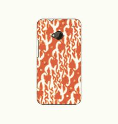 batik phonecase 8 vector image