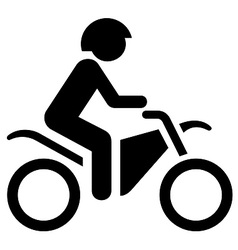 Biking symbol vector