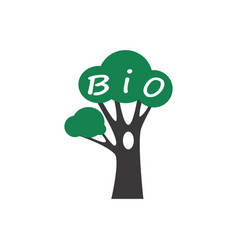 bio tree icon vector image vector image