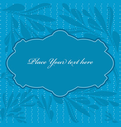 Blue frame with paisley pattern vector image vector image