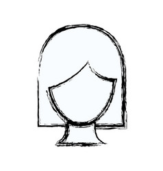 Blurred silhouette faceless woman with short hair vector