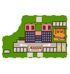 building and playground vector image
