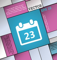 Calendar page icon sign modern flat style for your vector