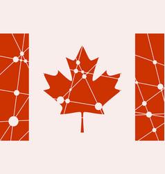 Canada flag concept vector