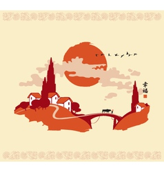 china landscape 001 vector image