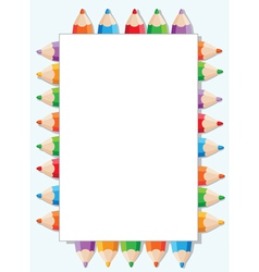 color pencils and paper vector image