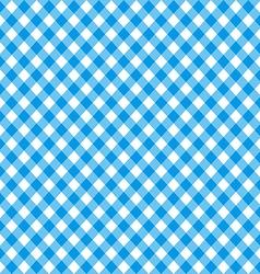 Diagonal blue tablecloth seamless pattern vector