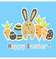 Easter colorful blue card template vector image vector image