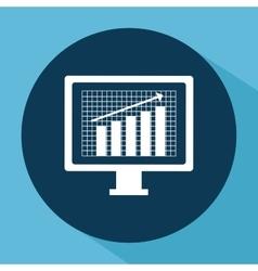 financial growth design vector image