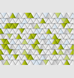 green and grey concept tech triangles background vector image vector image