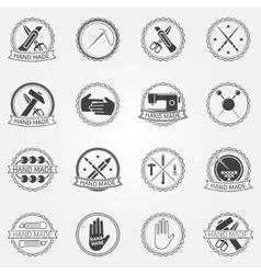 Handmade badges or labels vector