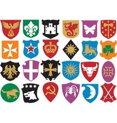 Heraldic symbols icon set vector image vector image