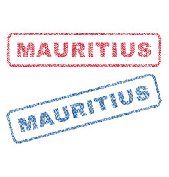Mauritius textile stamps vector