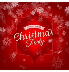 Merry Christmas Party invitation template EPS 10 vector image vector image