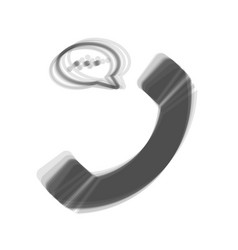 Phone with speech bubble sign gray icon vector