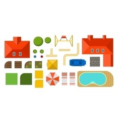 Plan of private house vector image vector image