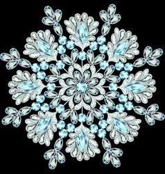snowflake made of precious stones vector image