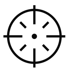 Specific target icon simple style vector