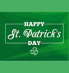 st patricks day lettering card vector image vector image