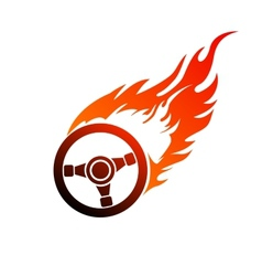 symbol burning automobile steering vector image