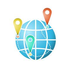 The globe icon or symbol vector