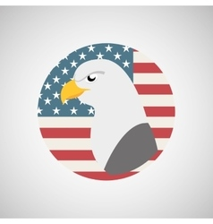 usa flag freedom symbol eagle vector image