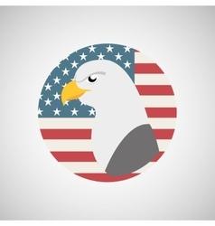 Usa flag freedom symbol eagle vector