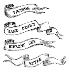 Vintage banner ribbons isolated on white vector image vector image