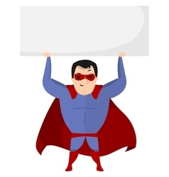 Super hero holding sign vector