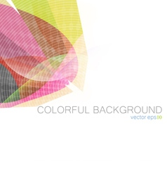 Colorful curve background vector