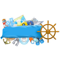 Cruise banner vector