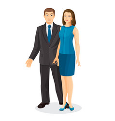 Elegant couple husband and wife vector
