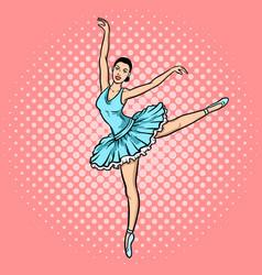 Ballet dancer pop art style vector