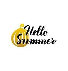 Hello summer lettering vector